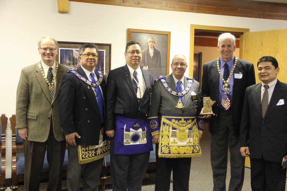 North Dakota and Manitoba dignitaries at the ND Chapter initiation in Minot, ND, on Nov 28, 2015.