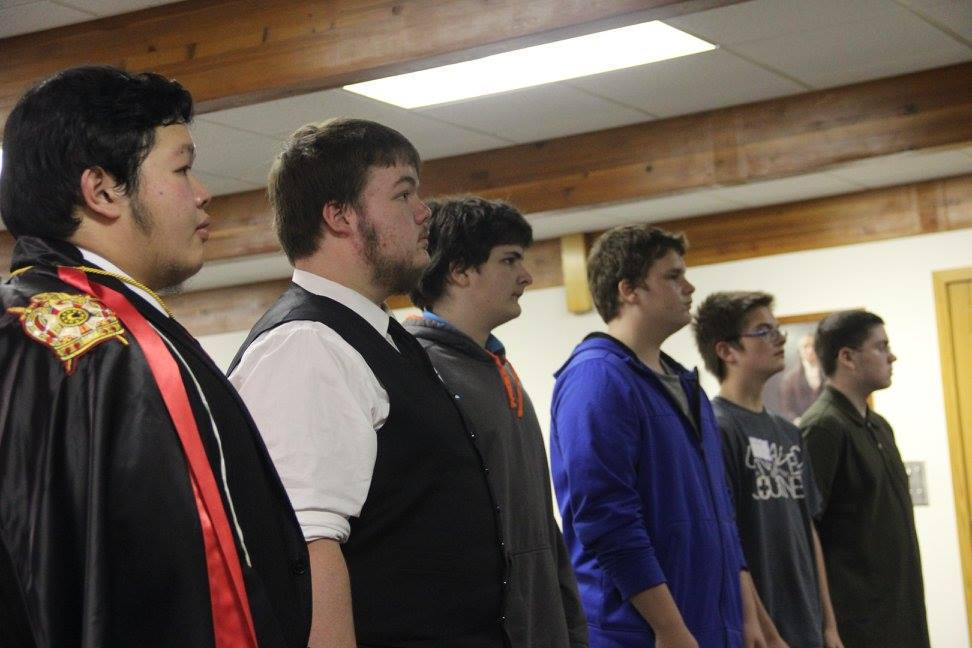 Winnipeg Chapter initiated these 5 boys for North Dakota Chapter's first initiation in November, 2015.