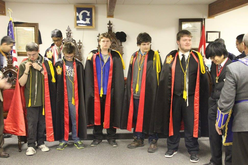 North Dakota Chapter DeMolay as of the end of 2015! Looking good in the robes, boys!