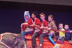 One final ride! DeMolay's having fun riding the elephant.