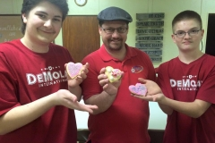 Community Service with Bison Bunch Club: Decorating cookies for hospice care.